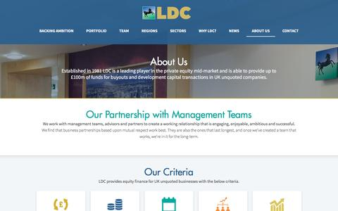 Screenshot of About Page ldc.co.uk - About LDC | Mid-market private equity | LDC - captured May 12, 2017