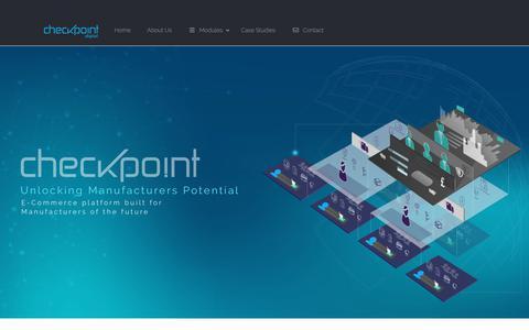 Screenshot of Home Page checkpoint.digital - Checkpoint digital | Manufacturers E-Commerce Platform - captured Nov. 1, 2018