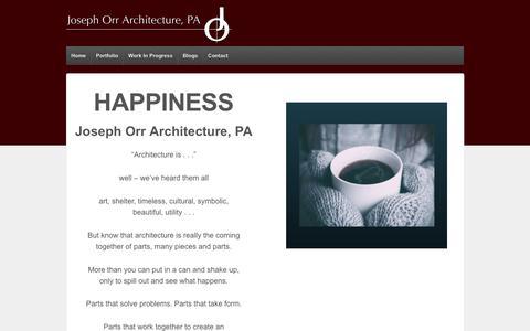 Screenshot of Home Page jorr.biz - JOSEPH ORR ARCHITECTURE, PA – JOSEPH ORR ARCHITECTURE, PA - captured April 25, 2017