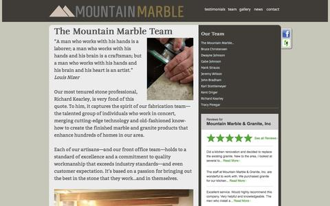 Screenshot of Team Page mountainmarble.com - Mountain Marble - captured Nov. 30, 2016