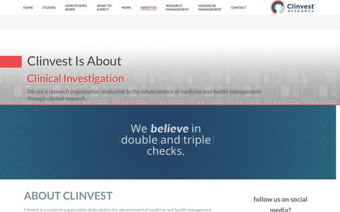 Screenshot of About Page Team Page clinvest.com - About Us - Clinvest - captured Sept. 27, 2018