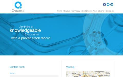 Screenshot of Contact Page quantafs.com - Quanta Contact US - captured Nov. 2, 2014