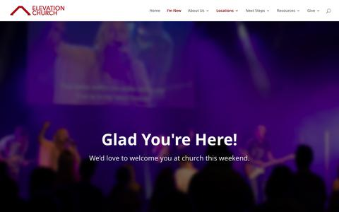 Screenshot of Locations Page elevationchurch.com.au - Locations - Elevation Church - captured July 28, 2017