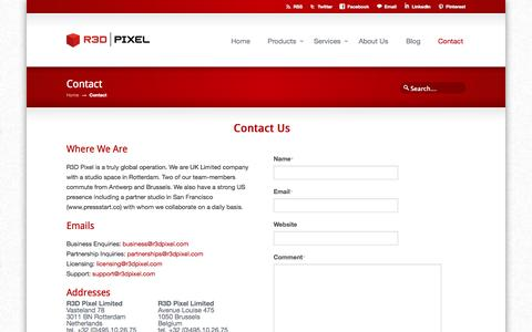 Screenshot of Contact Page r3dpixel.com - Contact « R3D Pixel R3D Pixel - captured Oct. 26, 2014