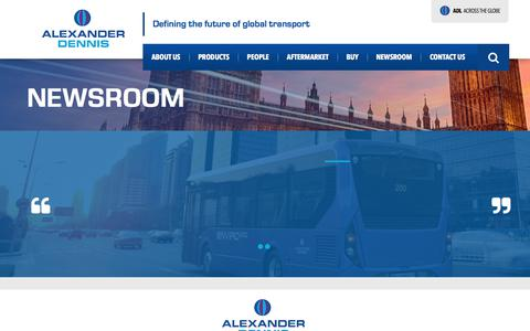 Screenshot of Press Page alexander-dennis.com - Newsroom | Alexander Dennis - captured July 5, 2018