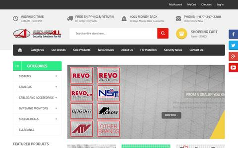 Screenshot of Home Page securitall.com - SecuritAll.com | Best in Home & Small Business Security Systems - captured Sept. 30, 2014