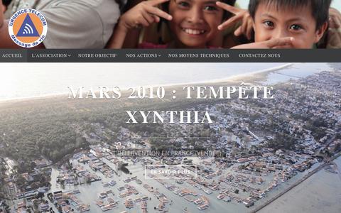 Screenshot of Home Page urgence-telecom.org - URGENCE-TELECOM - Message de vie - captured Feb. 22, 2016