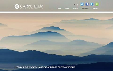 Screenshot of Case Studies Page carpediemcomunicacion.com - Carpe Diem Comunicación: Case studies - captured Sept. 29, 2014
