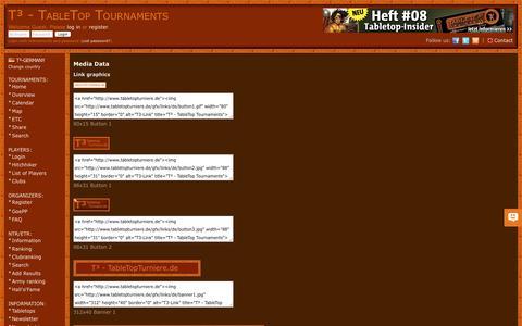 Screenshot of Press Page tabletopturniere.de - Media Data | T³ - TableTop Tournaments - Germany - captured Dec. 25, 2016