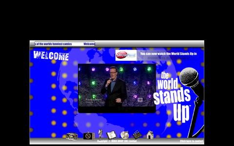 Screenshot of Home Page theworldstandsup.com - The World Stands Up  |  The finest stand up comedians from all over the world - captured Oct. 3, 2014