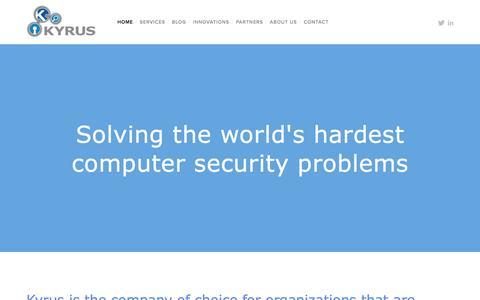 Screenshot of Home Page kyrus-tech.com - Kyrus - captured March 18, 2016
