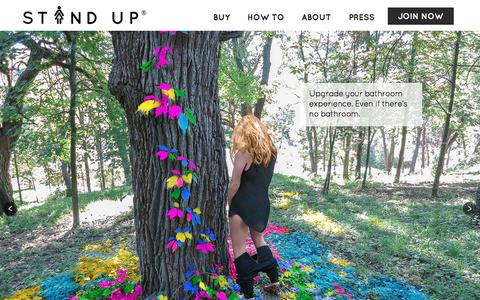 Screenshot of Home Page the-stand-up.com - Stand Up and Join the Urination - captured Feb. 2, 2016