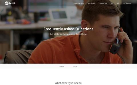 Screenshot of FAQ Page beepi.com - How Does Beepi Work?   Buy & Sell   Beepi - captured April 7, 2016