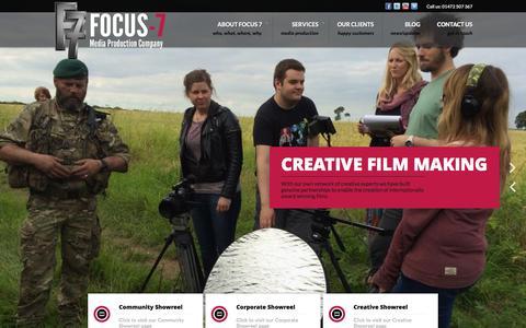 Screenshot of Home Page focus-7.com - Focus – 7 - captured Feb. 10, 2016