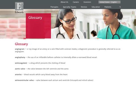 Glossary | Edwards Lifesciences