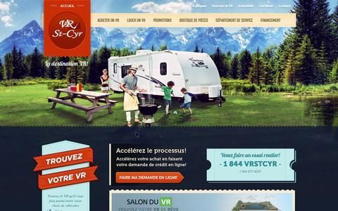 Screenshot of Home Page vrstcyr.com - Véhicules récréatifs   VR   VR St-Cyr   VR St-Cyr - captured March 23, 2017