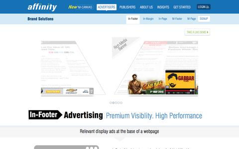 Screenshot of Team Page affinity.com - In-Footer Display Advertising - Premium Visibility. High Performance   Affinity - captured Nov. 12, 2019