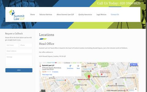 Screenshot of Locations Page summitlawllp.co.uk - Locations - Summit Law LLP - captured June 19, 2017