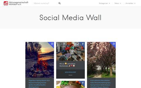Screenshot of Press Page muehldorf-vor-ort.de - Social Media Wall – Mühldorf vor Ort - captured April 2, 2017