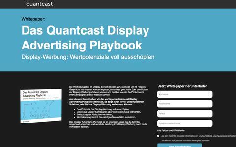 Screenshot of Landing Page quantcast.com - Display-Werbung: Wertpotenziale voll ausschöpfen - captured Feb. 15, 2016