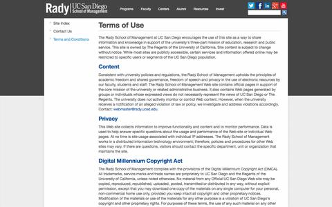 Screenshot of Terms Page ucsd.edu - Terms of Use - captured Oct. 10, 2014