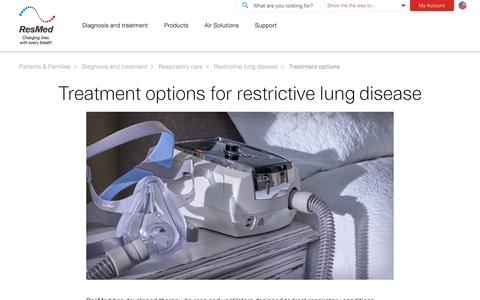 Treatment options for chest wall disorders | Solutions by ResMed