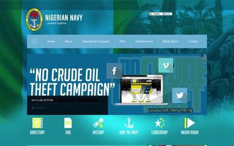 Screenshot of Home Page navy.mil.ng - Nigerian Navy - captured Nov. 22, 2015