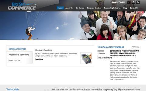 Screenshot of Home Page bigskycommerce.com - Big Sky Commerce - captured Jan. 4, 2016