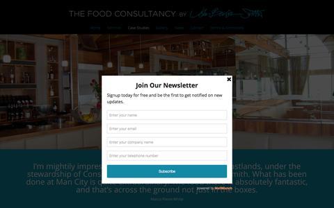 Screenshot of Case Studies Page thefoodconsultancy.com - Case Studies | The Food Consultancy - captured Feb. 15, 2016
