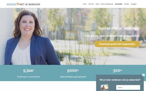 Screenshot of Home Page succesmetjewebshop.nl - Tips en Advies voor je webwinkel - Succes met je Webshop - captured Nov. 17, 2018