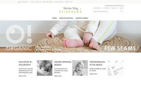 Screenshot of Home Page beibamboo.com - B E I B A M B O O - captured Sept. 13, 2014