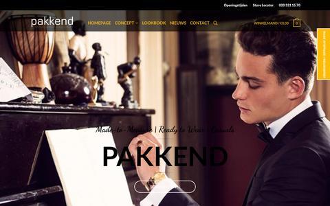 Screenshot of Home Page pakkend.nl - Pakkend Maatwerk Amsterdam - captured Oct. 18, 2016