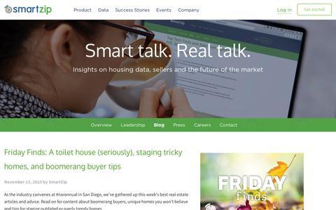 Screenshot of Blog smartzip.com - Blog | SmartZip - captured Nov. 18, 2015