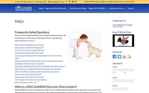 Screenshot of FAQ Page nopullleash.com - No Pull Leash   Dog Guard No Pull Leash   No Pull Harness   Easy Walk Leash   DOG GUARD No Pull Leash - captured Oct. 24, 2018