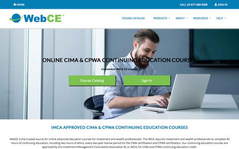 CIMA & CPWA Continuing Education Courses | Certification CE | WebCE | WebCE