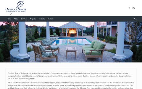 Screenshot of About Page outdoorspacesdesign.com - About - Outdoor Spaces in Leesburg VA - captured Oct. 18, 2018
