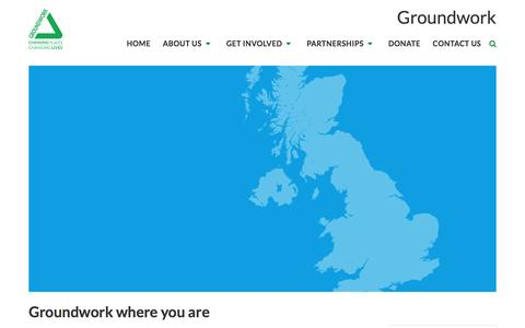 Screenshot of Maps & Directions Page groundwork.org.uk - Groundwork   Find a local contact - captured May 25, 2017