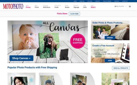 Screenshot of Home Page motophoto.com - MotoPhoto: quality photo prints, books, and canvas. - captured Nov. 15, 2018