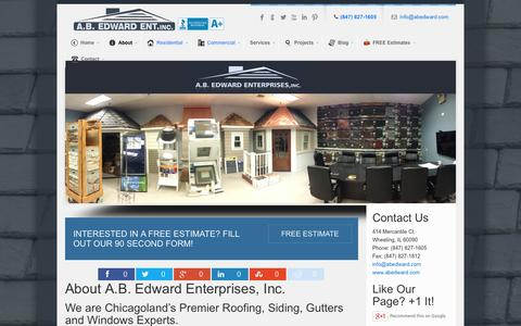 Screenshot of About Page abedward.com - About Our Company - A.B. Edward Enterprises, Inc. - captured Oct. 3, 2014