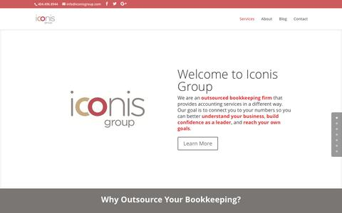 Screenshot of Home Page iconisgroup.com - Iconis Group - - captured Nov. 25, 2016