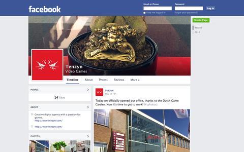 Screenshot of Facebook Page facebook.com - Tenzyn - Hilversum - Video Games | Facebook - captured Oct. 25, 2014