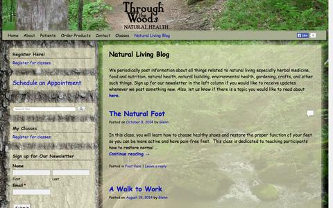 Screenshot of Blog throughwoods.com - Natural Living Blog | Through the Woods Natural Health - captured Nov. 5, 2014