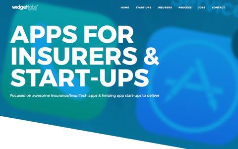Screenshot of Home Page widgetlabs.eu - Widgetlabs - apps for insurers and start-ups - captured May 9, 2017