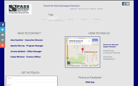 Screenshot of Privacy Page Contact Page passpdx.com - Contact Us - captured Oct. 22, 2014