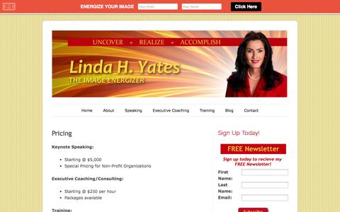 Screenshot of Pricing Page lhyatesconsulting.com - Pricing | lhyatesconsulting.comlhyatesconsulting.com - captured Oct. 22, 2014