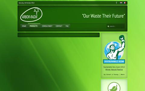 Screenshot of Products Page arbor-radix.be - Products - captured Oct. 4, 2014