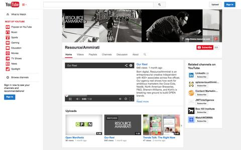 Screenshot of YouTube Page youtube.com - Resource/Ammirati  - YouTube - captured Oct. 26, 2014