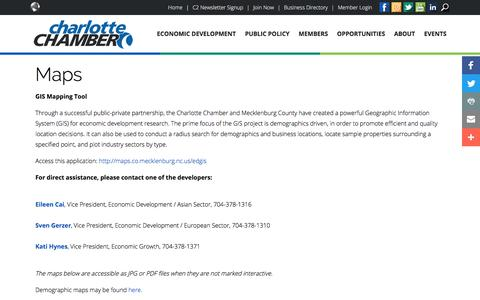Screenshot of Maps & Directions Page charlottechamber.com - Maps - Charlotte Chamber - captured July 25, 2017