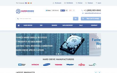 Screenshot of Home Page harddrivesforsale.com - Hard Drives For Sale | Parts | Donors | PCB - captured June 17, 2015