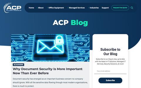 Screenshot of Blog allcopyproducts.com - Blog - ACP - captured Feb. 3, 2020